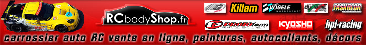 RCbodyshop.fr fabrication et vente carrosseries 1/18 1/10 1/6 1/5 1/4
