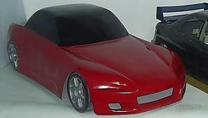 carrosserie fibre de verre honda s2000 au 1/5