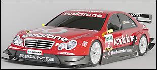 mercedes c dtm 2006 FG carrosserie ailes lisses + ailerons cotés