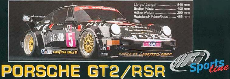 FG Modellsport carrosserie porsche 1/5 GT2 RSR 964