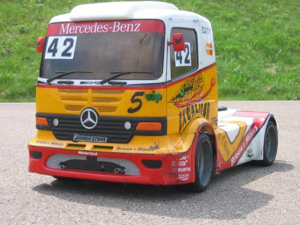 carrosserie camion rc 1:6 Fg mercedes atego lexan
