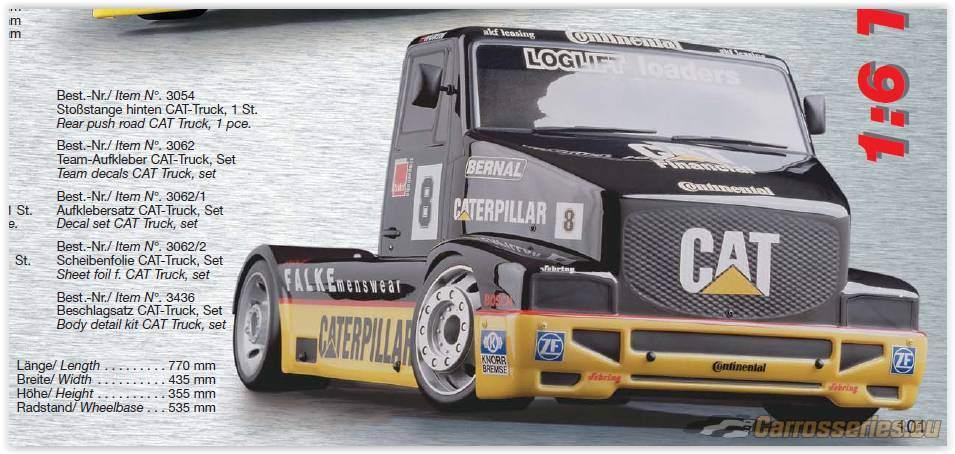 carrosserie camion fg caterpillar 1:6